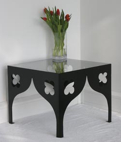 Ogee and Quatrefoil Side Table